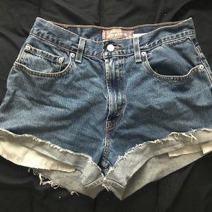 Reworked vintage Levi jean shorts
